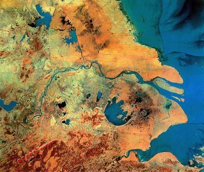 长江三角洲卫星照片