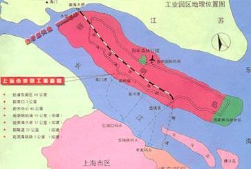 崇明跨江大橋地圖
