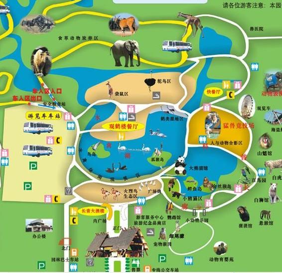 上海野生动物园导游地图