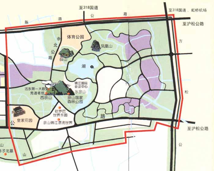佘山国家森林公园导游地图