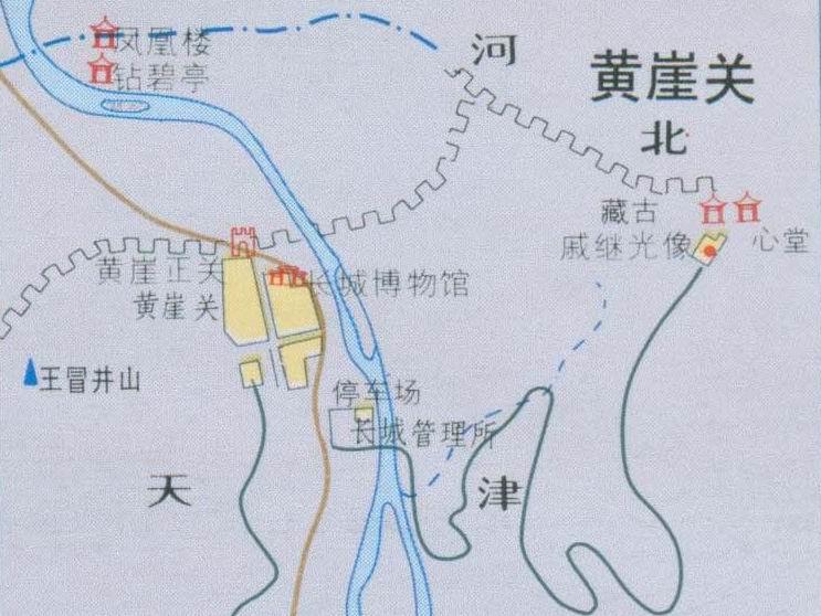 黄崖关长城导游地图