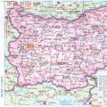 保加利亚高清中文全图_保加利亚地图库