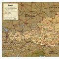 奥地利英文全图_奥地利地图库