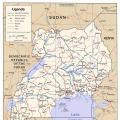 卢旺达英文地图_卢旺达地图库