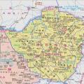 津巴布韦高清中文全图_津巴布韦地图库