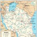 坦桑尼亚地图英文版_坦桑尼亚地图库