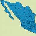 墨西哥行政区划图_墨西哥地图库