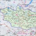 蒙古政区图中(英)文版_蒙古地图库