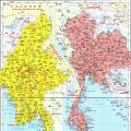 缅甸地图中文版_缅甸地图库