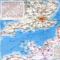 英吉利海峡地图_欧洲地图库