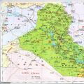 伊拉克中文版地图_伊拉克地图库