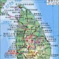 斯里兰卡地图地形版_斯里兰卡地图库