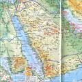 沙特阿拉伯地图(地形版)_沙特阿拉伯地图库
