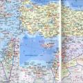 巴勒斯坦中英文版地图_巴勒斯坦地图库