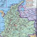 哥伦比亚旅游地图_哥伦比亚地图库