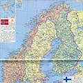 瑞典中文版地图_瑞典地图库