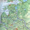 立陶宛地形图_立陶宛地图库