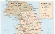 朝鲜地图英文版_朝鲜地图库