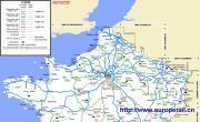 法国铁路路线图_法国地图库