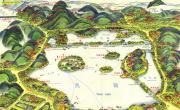 杭州西湖旅游地图_浙江旅游地图库