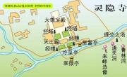 灵隐寺导游图_浙江旅游地图库