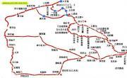太白山南坡示意图_陕西旅游地图库