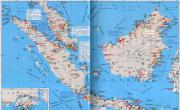 马来西亚、新加坡、文莱、印尼西部港口分布地图_交通地图库