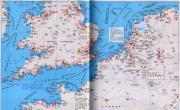 荷兰、比利时、法国北部、英国南部沿海港口分布图_交通地图库