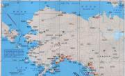 美国阿拉斯加、夏威夷、美国西北部沿海港口分布图_交通地图库