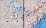 美国东北部及五大湖地区港口分布图_交通地图库
