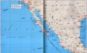 美国西南部、墨西哥西部沿海地区港口分布图_交通地图库