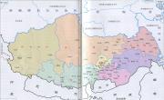 西藏行政区划简图_行政简图地图库