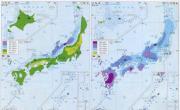 日本气候分布图_日本地图库