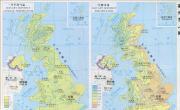 英国气候分布图_英国地图库