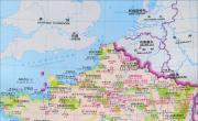 法国旅游景点分布地图_法国地图库
