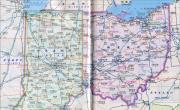 俄亥俄州_印第安纳州地图_美国地图库