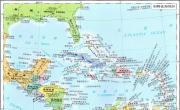 加勒比海地图高清中文版_北美洲地图库