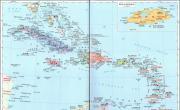 加勒比海地区诸国_北美洲地图库