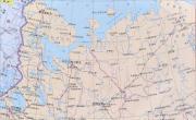 俄罗斯西部地图中文版_俄罗斯地图库