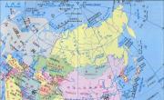 亚洲地图中英文版_亚洲地图库