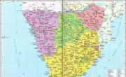 南非地图中文版_南非地图库