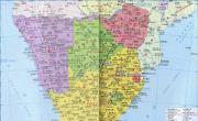 南非行政区划图最新版_南非地图库