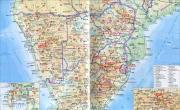 南非地图地形版_南非地图库
