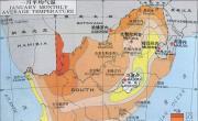 南非气候_一月平均气温分布图_南非地图库