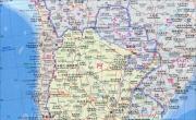 阿根廷地图(中英文版)_阿根廷地图库