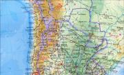 智利高清地形图_智利地图库