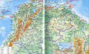 哥伦比亚地形图_哥伦比亚地图库