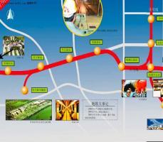 深圳地铁一期线路示意图