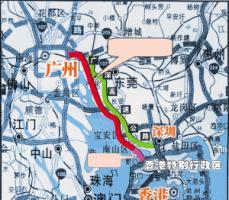 广深沿江高速2017年通车简图_广州地图库